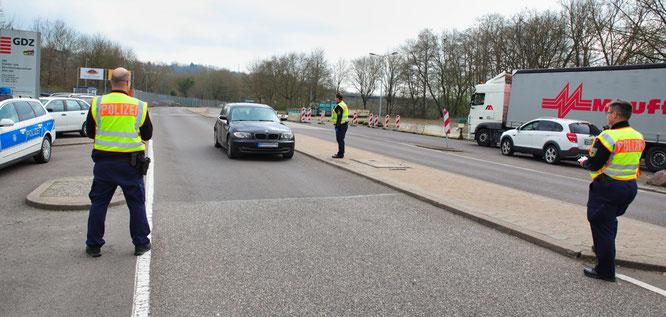 In Kleinblittersdorf wurde die Grenze erst ab dem Vormittag überwacht.