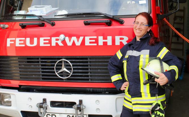 Seit 1991 ist Melanie Faas bei der Feuerwehr dabei.