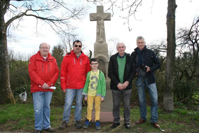 Bereits im Jahr 2016 war Maurice Forster dafür verantwortlich, dass in Bliesransbach zwei Wegekreuze restauriert wurden