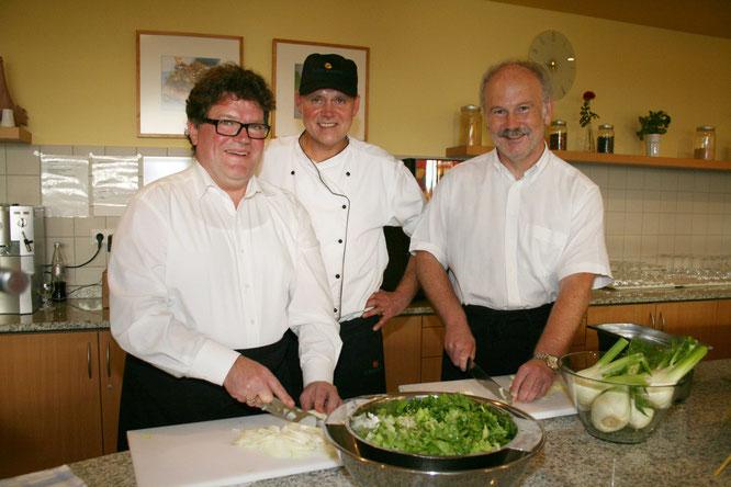 Auch als Koch machte der Bürgermeister eine gute Figur.