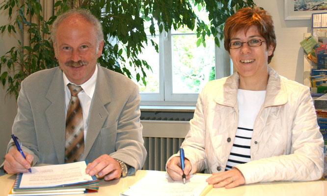 Stephan Strichertz und Annegret Kramp-Karrenbauer, die ehemalige Ministerpräsidentin des Saarlandes.