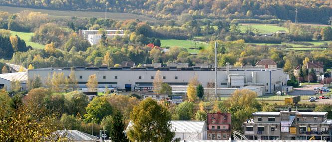 Das Aluminiumwerk in Großblittersdorf.