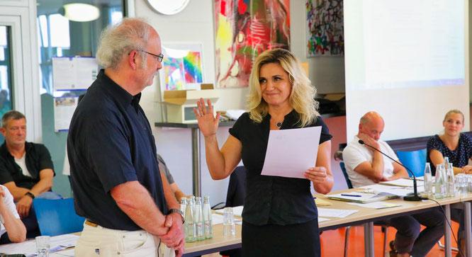 Kathrin Gross wurde im vergangenen Jahr von Bürgermeister Stephan Strichertz zur ersten Beigeordneten der Gemeinde Kleinblittersdorf ernannt.