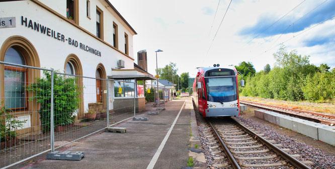 Der Bahnhof in Rilchingen-Hanweiler.
