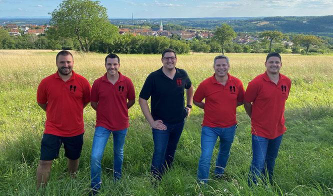 Der geschäftsführende Vorstand. Von links: Jonas Brach, Oliver Hector, Daniel Walter, Robert Adamek, Manuel Wagner.