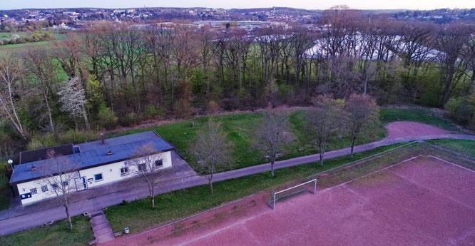 Auch ein Multifunktionsfeld kommt neben das Clubheim des SV Sitterswald.