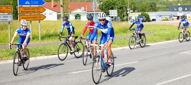 Der Radsportverein Edelweiß aus Bliesransbach war in diesem Jahr auch wieder dabei.