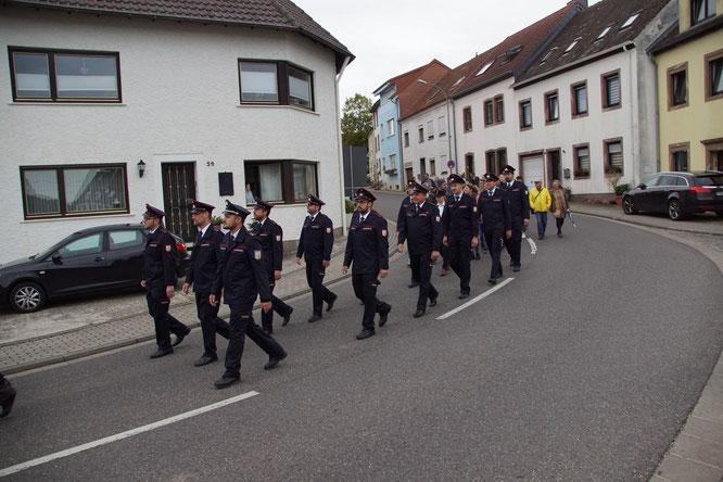 Die Feuerwehr war auch am Start.