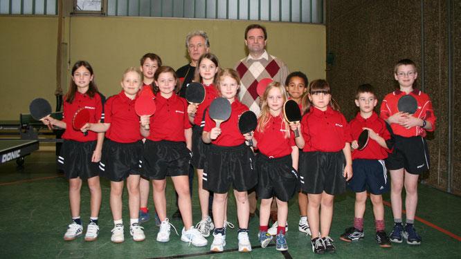 Der Bliesransbacher Tischtennis-Nachwuchs im Jahr 2007