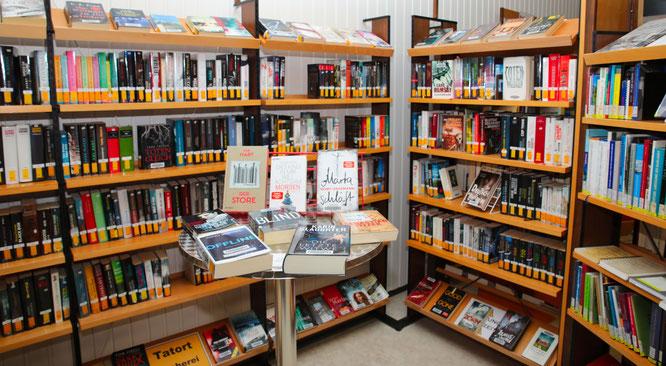 Große Leseauswahl in der Bücherei in Kleinblittersdorf.