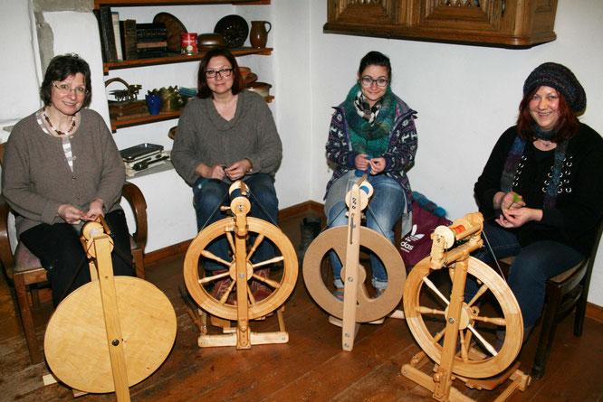 Im Jahr 2014 haben die Frauen in Auersmacher das Spinnprojekt gestartet.