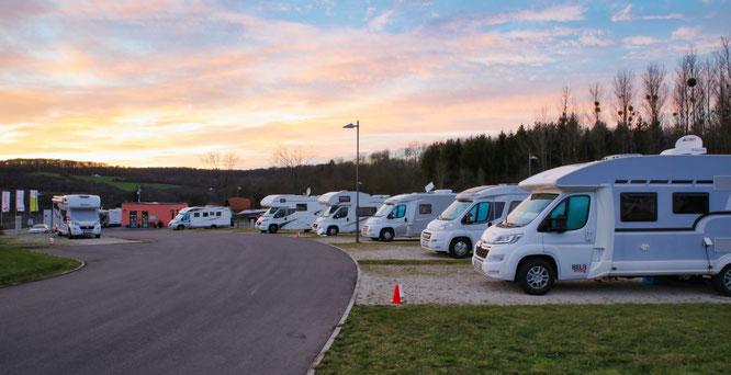 Normalerweise ist der Wohnmobil-Park in Rilchingen-Hanweiler von April bis Juni nahezu ausgebucht.