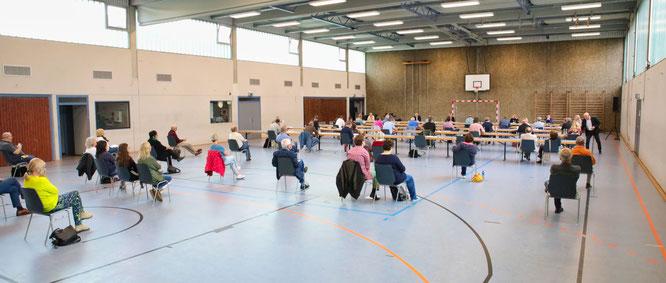 Der Gemeinderat von Kleinblittersdorf tagte am vergangenen Mittwoch erstmals in der Corona-Zeit in der Mehrzweckhalle in Rilchingen-Hanweiler.