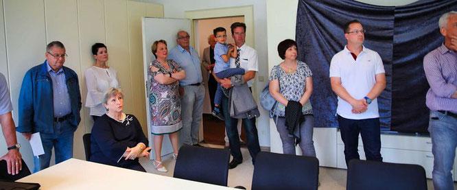 Erika Heit und die CDU verfolgten die Wahlergebnisse im Historischen Rathaus von Kleinblittersdorf.