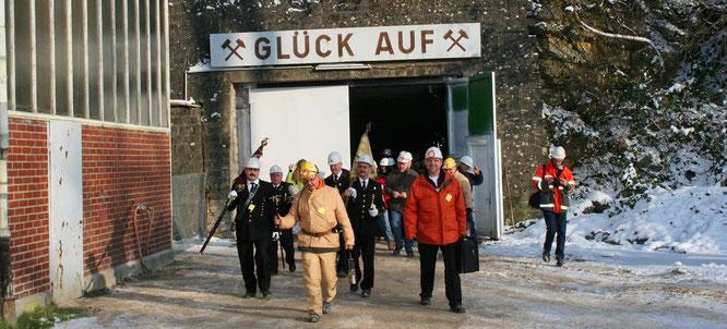 Der Eingang in die Kalksteingrube Auersmacher