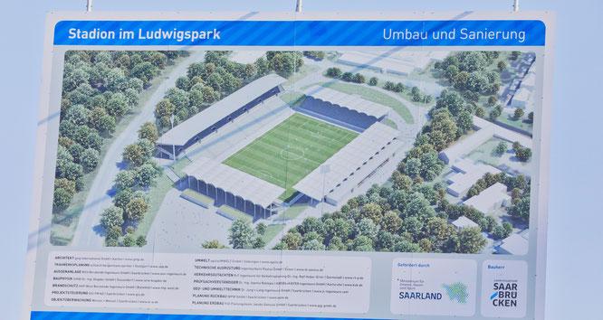 So soll das Ludwigsparkstadion in Saarbrücken mal aussehen.
