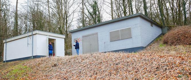 Der Hochbehälter Kappelberg - von außen unscheinbar, aber innen voll mit modernster Technik.