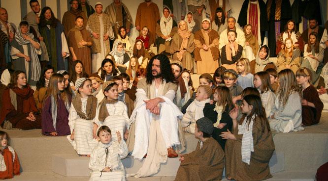 Josefs Sohn Peter Lang spielt bei den Passionsspielen Jesus.