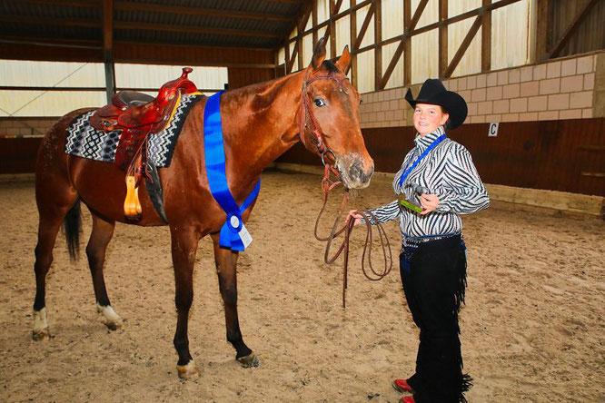 Joline Becker und ihre vierjähriger Appaloosa Misterkukident wurden in diesem Jahr Europameister im Westernreiten.