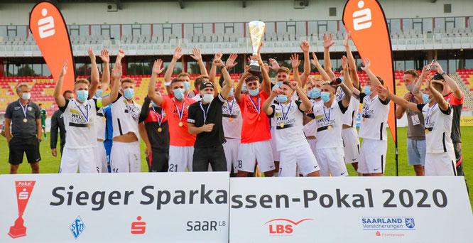 Fußball-Regionalligist SV Elversberg ist der aktuelle Saarlandpokal-Sieger.