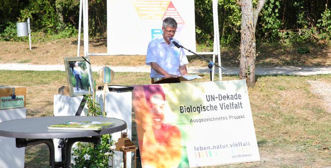 Rainer Lang, der Bürgermeister von Kleinblittersdorf, gratulierte.