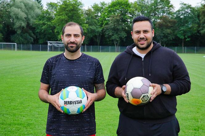 Hassan Hanoun (links, 39 Jahre) und Mohammed Abbas (23) sind die neuen Trainer der SF Hanweiler.