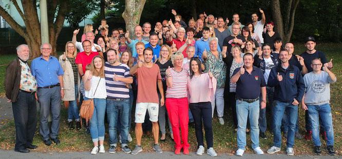 Eine starke Gemeinschaft...die Unwetter-Helfer der Oberdorfstraße in Kleinblittersdorf.