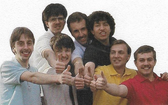 The Angles und Freunde im Jahr 1981.