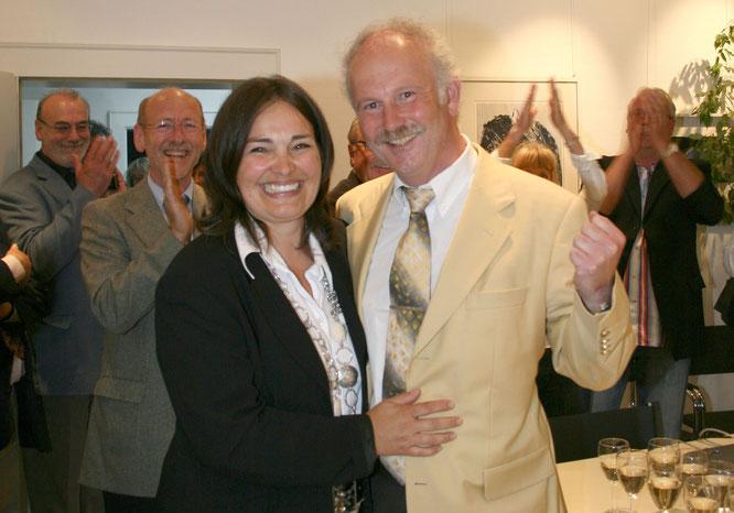 Im Jahr 2009 wurde Stephan Strichertz mit knapp 70 Prozent aller Stimmen wieder zum Bürgermeister gewählt. Hier mit seiner Frau Sabine.
