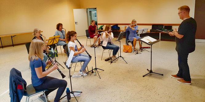 Das Junge Blasorchester hat in der vergangenen Wochen wieder mit den Proben begonnen.