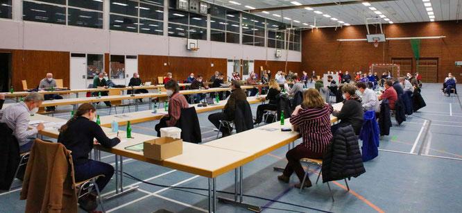 Der Gemeinderat von Kleinblittersdorf hat in der Spiel- und Sporthalle in Kleinblittersdorf einen Notausschuss gewählt.