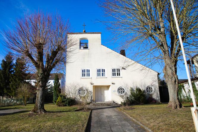 Die evangelische Kirche in Hanweiler noch mit Glocke.