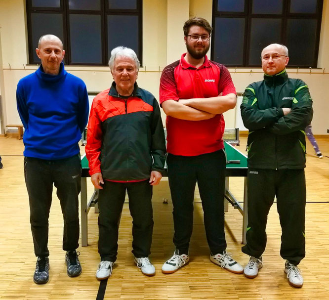 Trainerteam v.l.: Jan Nussbaum, Leo Klopp, Jan Kai Kany, Christof Miodek