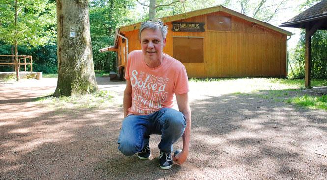 Peter Bopp war als Boule-Spieler schon im Achtelfinale der Weltmeisterschaft.