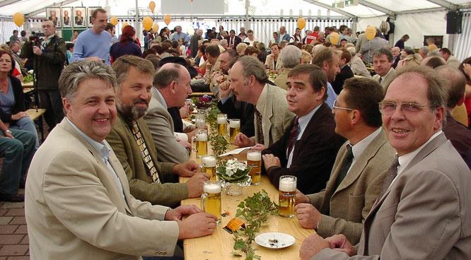 Bereits beim Kleinblittersdorfer Dorffest 2003 wurde grenzüberschreitend gefeiert