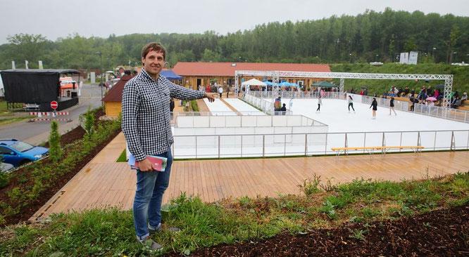 Patrick Kemmer zeigt den neuen Erlebnispark Bliesgau.