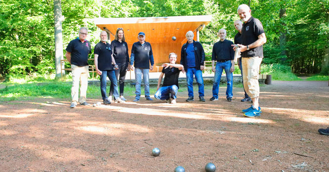 Am Waldhaus in Sitterswald wird seit vergangenem Jahr Boule gespielt.