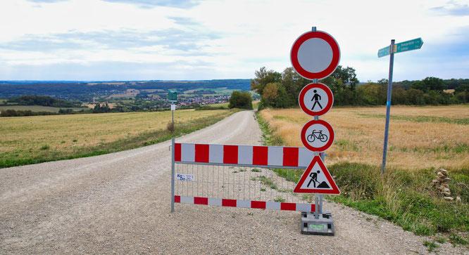 Auf dem Radwanderweg Richtung Hartungshof in Bliesransbach herrscht akute Rutschgefahr.