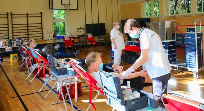 Beim Blutspende-Termin im Juni kam die Rekordzahl von 46 Spendern nach Rilchingen-Hanweiler.