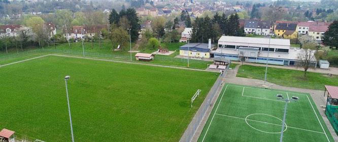 Der Karl-Heinz Schmidt-Sportpark von oben.
