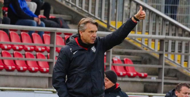 Horst Steffen, der Trainer der SV Elversberg.