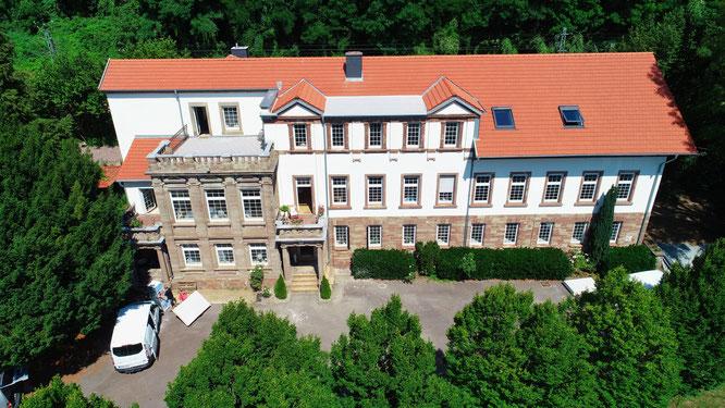 Das Schloss Falkenhorst in Kleinblittersdorf.