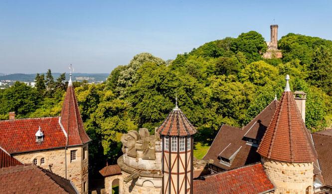 Der Schlossberg überragt die Stadt Forbach sowie die Täler von Saar und Rossel, Foto: Marc Przybyl.