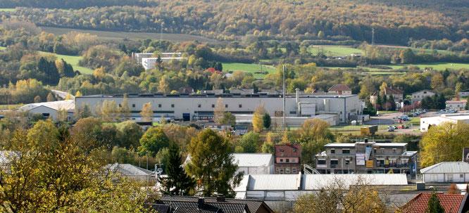 Das Aluminiumwerk der Fonderie Lorraine in Großblittersdorf.