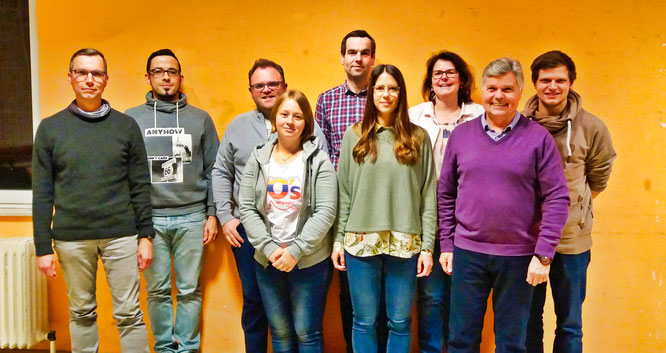 Der neue Vorstand des Saar-Wind-Orchestras.