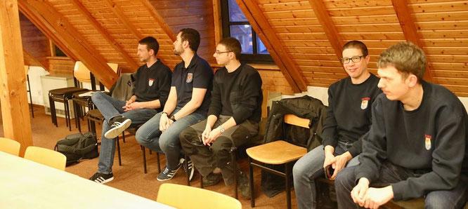 Feuerwehrmänner aus Kleinblittersdorf kamen zur Ortsratssitzung am Donnerstag