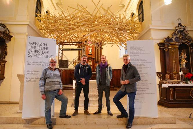 von links: Josef Lang, Martin Steinert, François Schwamborn, Peter Lupp.