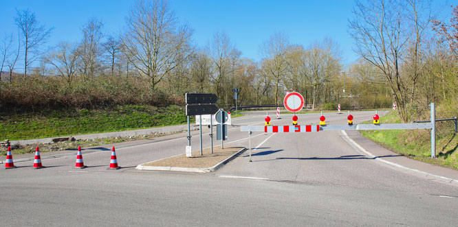 Die Ortsumgehung von Kleinblittersdorf ist noch bis etwa 19 Uhr gesperrt.