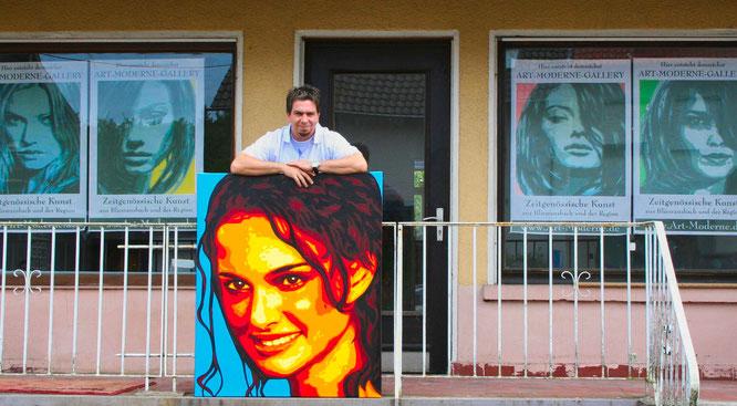 In der ehemaligen Millichkich in Bliesransbach hatte Michael Becker im Jahr 2005 sein eigenes Atelier.