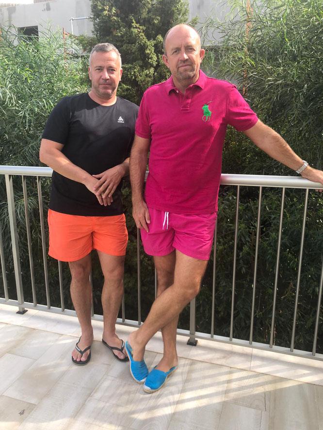 Wolfgang Kubig aus Güdingen (links) und Achim Loosen aus Auersmacher hatten beim Unwetter auf Mallorca viel Glück